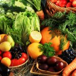 organic healthy fruit and vegetables
