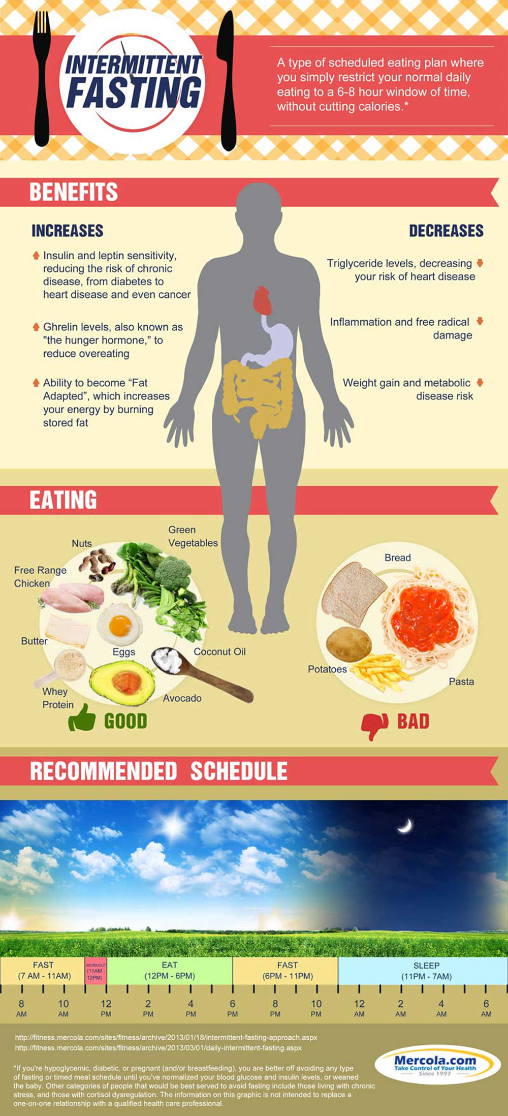 An infographic about intermittent fasting from the Guelph Natural Health team, chiropractors Guelph.