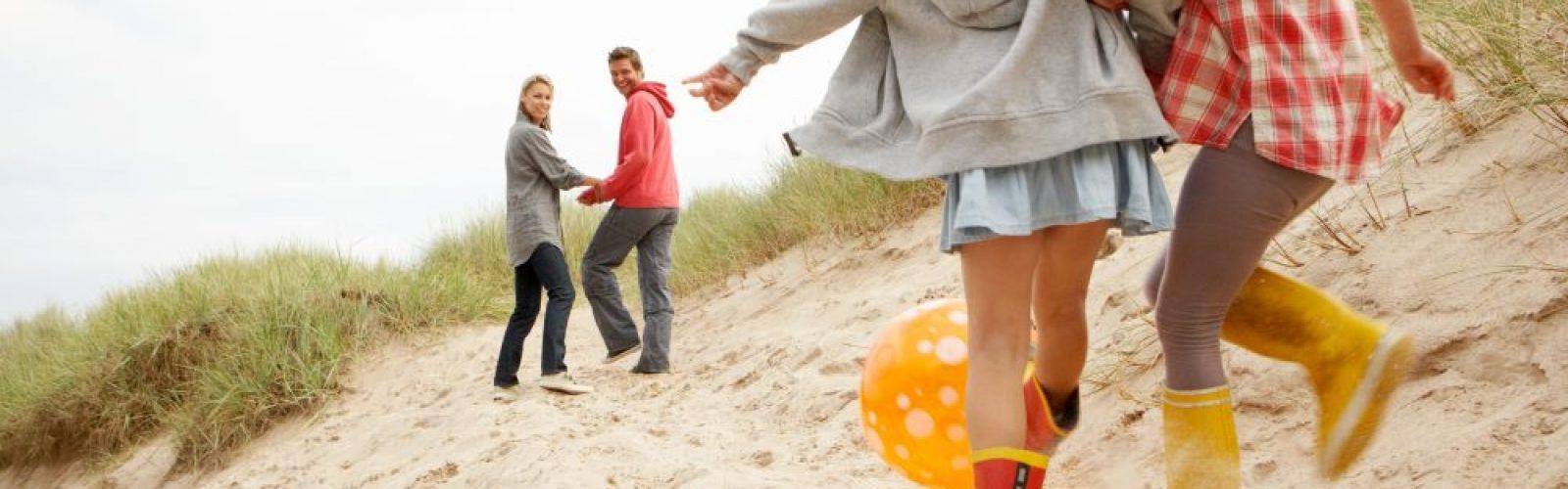 Nutrition focused family enjoys day on the beach